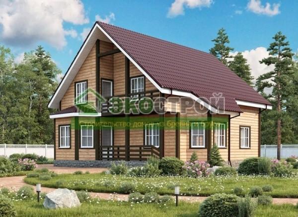 Дом из бруса ДУ 082
