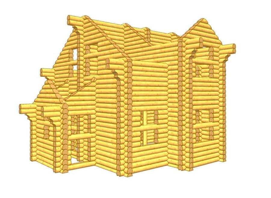 Дом из бревна ОЦБ 001 пробрусовка 4