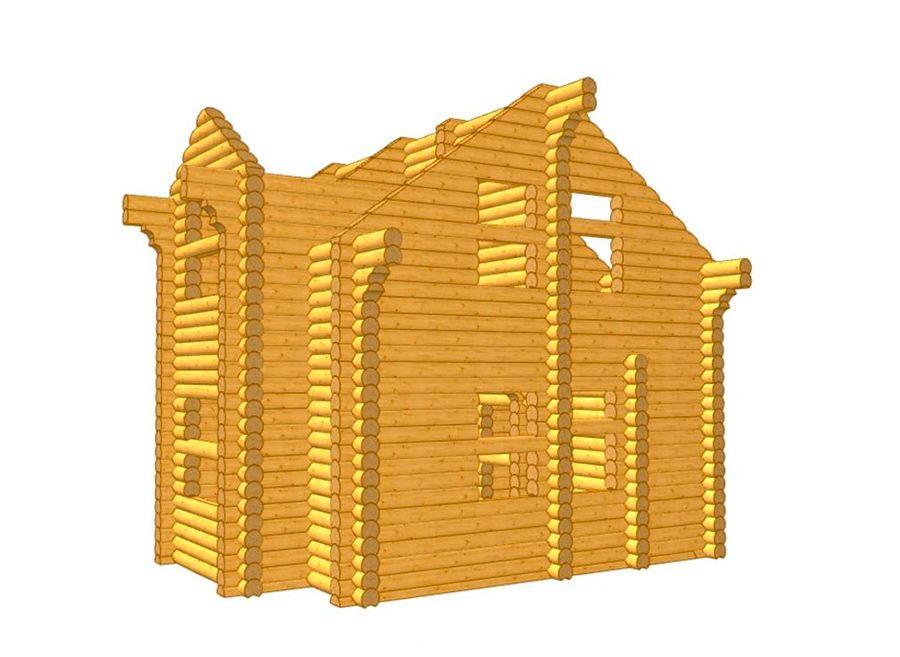 Дом из бревна ОЦБ 001 пробрусовка 1