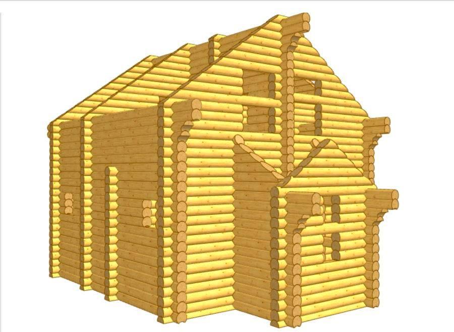 Дом из бревна ОЦБ 001 пробрусовка 3