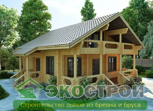 Дом из бревна ОЦБ 002