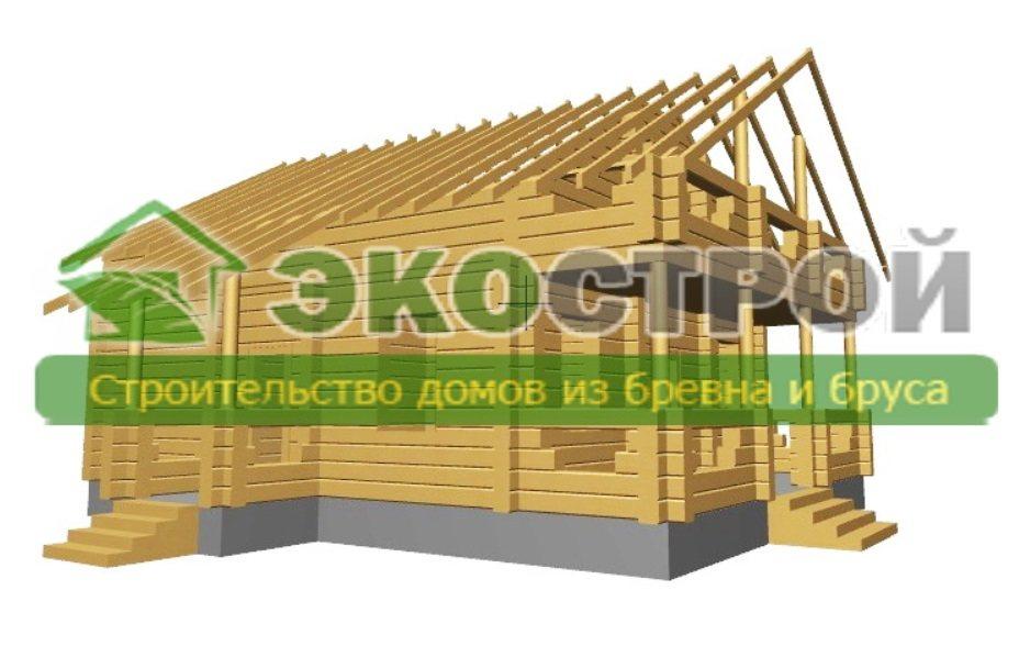Дом из бревна ОЦБ 002 пробрусовка 3