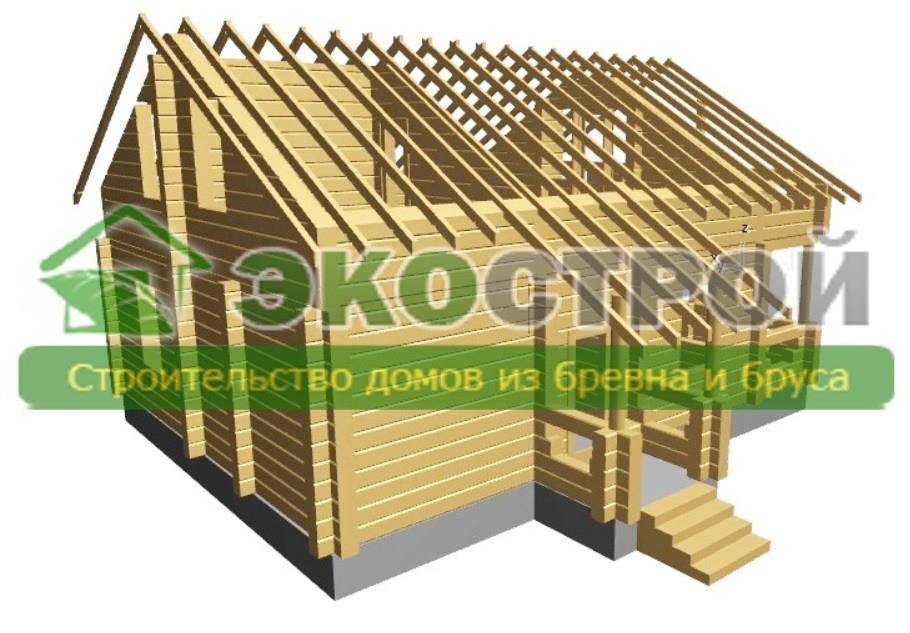 Дом из бревна ОЦБ 002 пробрусовка