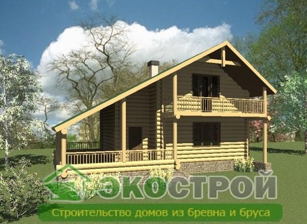 Дом из бревна ОЦБ 003
