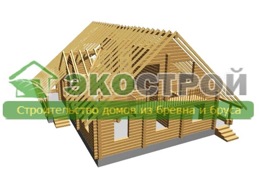 Дом из бревна ОЦБ 003 пробрусовка 3