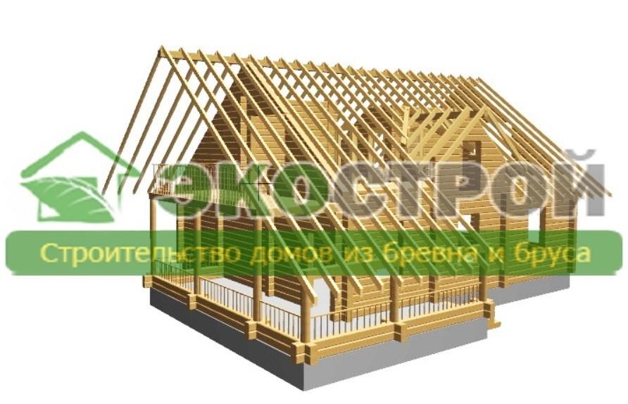 Дом из бревна ОЦБ 003 пробрусовка