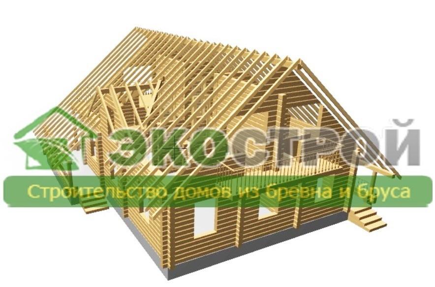Дом из бревна ОЦБ 003 пробрусовка 2