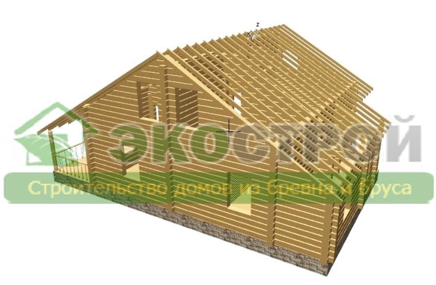 Дом из бревна ОЦБ 004 пробрусовка