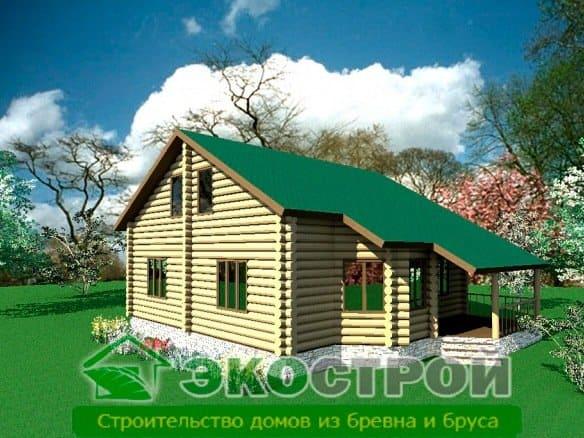 Дом из бревна ОЦБ 004