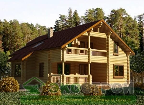 Дом из бревна ОЦБ 005
