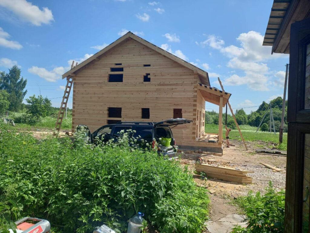 Строительство дома из проф бруса 145х195мм в Серпуховском районе